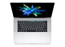 MacBook Pro 15-inch with Touch Bar/ 2.8GHz quad-core Intel Core i7/ 256GB - Silver