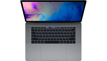 MacBook Pro 15-inch  with Touch Bar/ 2.2GHz 6-core Intel Core i7/ 16GB/ 256GB - Space Grey