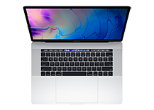 MacBook Pro 15-inch with Touch Bar/ 2.2GHz 6-core Intel Core i7/ 16GB/ 256GB - Silver