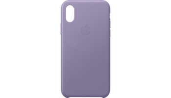 iPhone XS Leather Case - Lilac