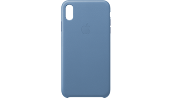 iPhone XS Max Leather Case - Cornflower