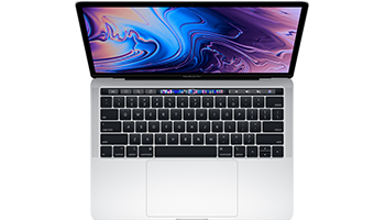 MacBook Pro 13-inch with Touch Bar/ 2.4GHz quad-core Intel Core i5/ 8GB/ 256GB - Silver