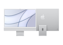 24-inch iMac with Retina 4.5K display/ Apple M1 chip with 8‑core CPU and 8‑core GPU/ 8GB/ 256GB - Silver