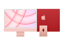 24-inch iMac with Retina 4.5K display/ Apple M1 chip with 8‑core CPU and 8‑core GPU/ 8GB/ 256GB - Pink