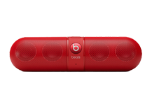 Pill Portable Stereo Speaker with Bluetooth - red