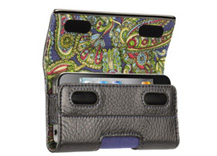 Elan Holster Metal for iPhone 4 - Platinum Leather