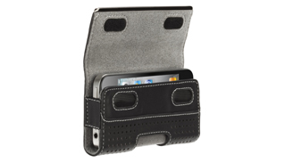Elan Holster Metal for iPhone 4 - Black Perforated Leather