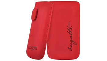 bugatti Perfect Velvety nubuck leather cherry for iPhone 4 / 4S