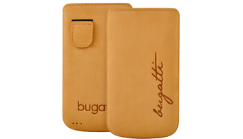 bugatti Perfect Velvety nubuck leather honey for iPhone 4 / 4S